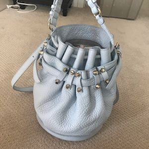 Alexander Wang Diego bucket bag baby blue leather